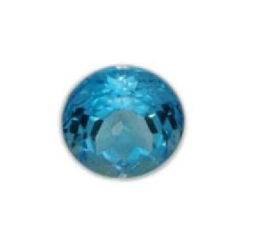 Electric Swiss Blue Topaz (Rnd 19 mm Faceted 4A) 30.000 Ct.