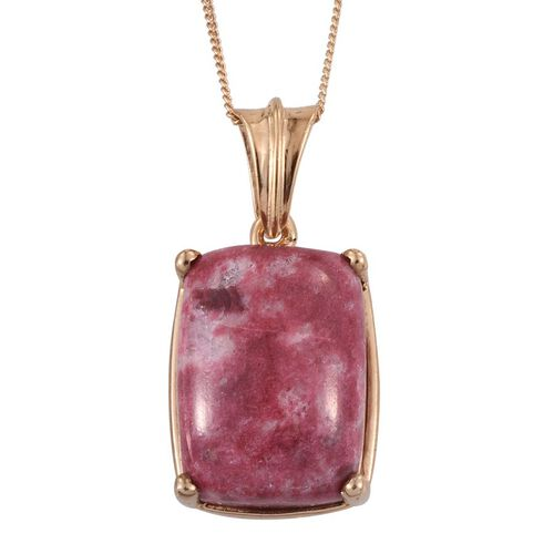 Norwegian Thulite (Cush) Pendant With Chain in 14K Gold Overlay Sterling Silver 16.000 Ct.