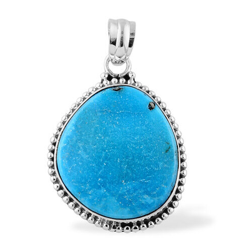 ARTISAN CRAFTED Arizona Sleeping Beauty Turquoise Pendant in Sterling Silver 11.10 Ct.