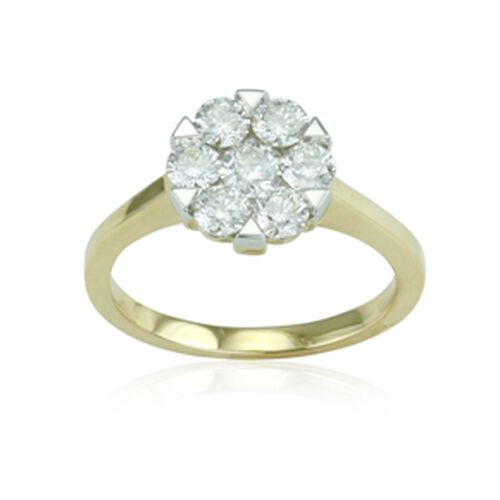 IGI Certified ILIANA Diamond (SI / G-H) 18K Y Gold Ring  1.000  Ct.