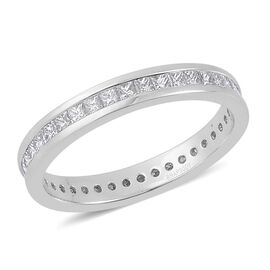 RHAPSODY 950 Platinum 1 Carat Diamond Princess Full Eternity Band Ring IGI Certified VS E-F.