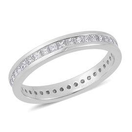 RHAPSODY 950 Platinum 1 Carat Diamond Princess Full Eternity Band Ring IGI Certified VS E-F.