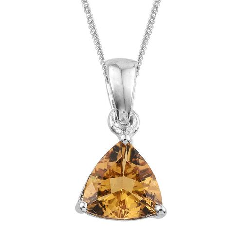 Marialite (Trl) Solitaire Pendant With Chain in Platinum Overlay Sterling Silver 1.000 Ct.