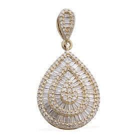 ILIANA 18K Y Gold SGL Certified Diamond (Sqr) (SI/G-H) Pendant 1.000 Ct.