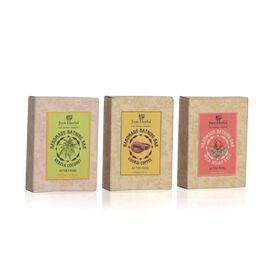 (Option 4) EXCLUSIVE TO TJC - Just Herbs Set of 3 - Kerala Coconut, Coorgi Coffee and Wild Indian Coconut Soap (100 Gm)