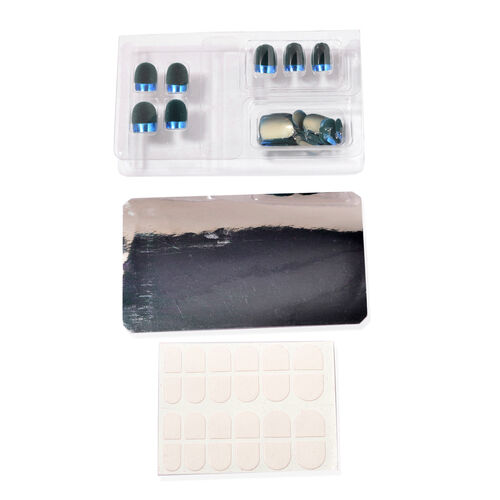 Blue Colour Artificial Nails