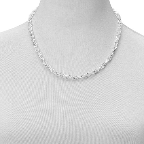 Prince of Wales Necklace (Size 20) and Bracelet (Size 7.5 with 1 inch Extender) in Silver Tone