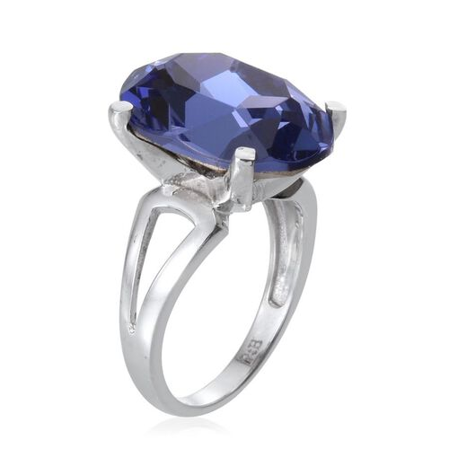 Karis Swarovski Crystal Tanzanite (10.25 Ct) Brass Ring  10.250  Ct.