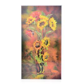 Wall Decor - Sun Floral Framed 5D Wall Paintig (Size 48.5x26.5x3 Cm)