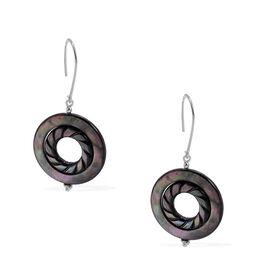 Abalone Shell Hook Earrings in Sterling Silver