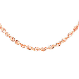 JCK Vegas Collection 9K Rose Gold Diamond Cut Rope Chain (Size 20), Gold wt 2.40 Gms.