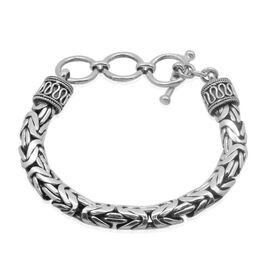 Royal Bali Collection Sterling Silver Borobudur Bracelet (Size 7.25 to 8.25 Inch), Silver wt 44.90 Gms.