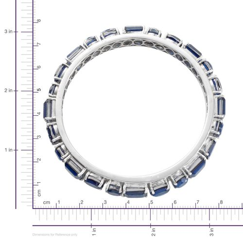 Ceylon Colour Quartz (Oct) Bangle (Size 7.5) in Platinum Overlay Sterling Silver 51.000 Ct.