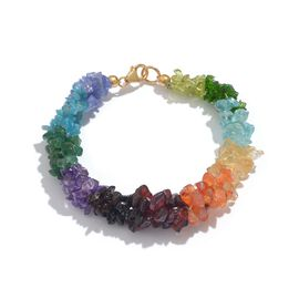 Tanzanite (7 Cts.), Apatite (14 Cts.), Garnet (8 Cts.) and Multi Gemstone 3 Layer Twisted Bead Bracelet (Size 7.5) in 14K Gold Overlay Sterling Silver 79.100 Cts.