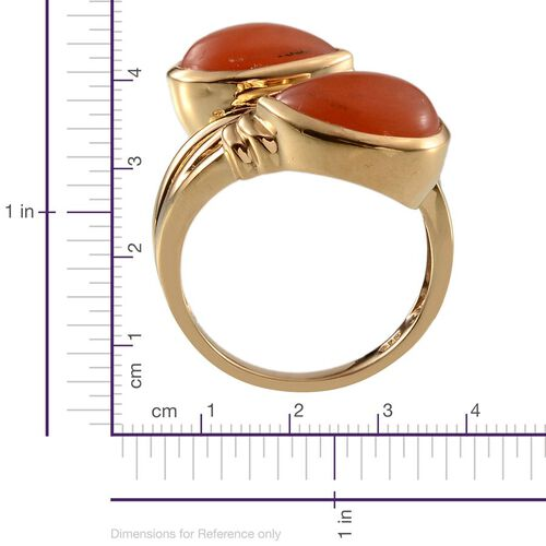 Mitiyagoda Peach Moonstone (Cush) Ring in 14K Gold Overlay Sterling Silver 8.750 Ct.