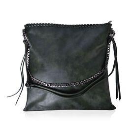Dark Green Colour Shoulder Bag with Adjustable and Removable Shoulder Strap (Size 38x37 Cm)