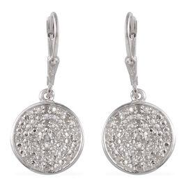 Diamond (Rnd) Lever Back Earrings in Stainless Steel 0.250 Ct.