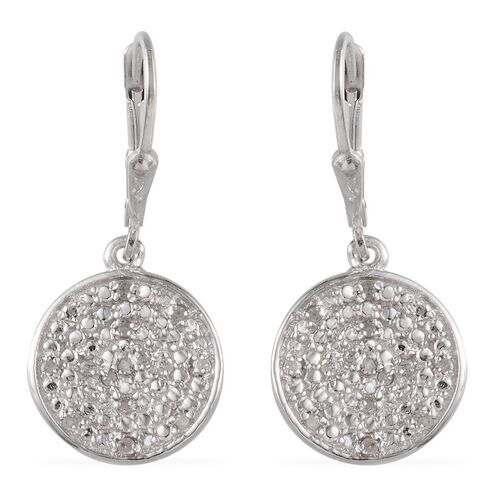 Diamond (Rnd) Lever Back Earrings in Stainless Steel 0.250 Ct.