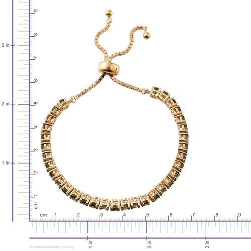 Bohemian Moldavite (Rnd) Bracelet (Size 7.5) in 14K Gold Overlay Sterling Silver 4.500 Ct.