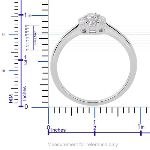 ILIANA 18K White Gold 0.50 Carat Diamond 7 Stone Ring IGI Certified SI G-H.