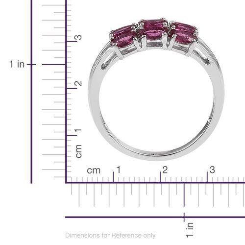 9K W Gold Ouro Fino Rubelite (Ovl) Ring 2.000 Ct.