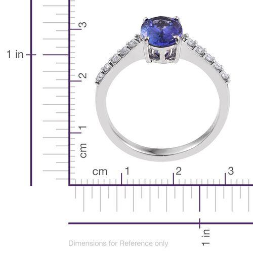 RHAPSODY 950 Platinum 2 Carat AAAA Tanzanite Shoulder Set Ring With Diamond VS E-F