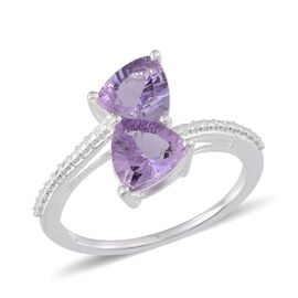 Brazilian Amethyst (Trl) Crossover Ring in Sterling Silver 1.750 Ct.