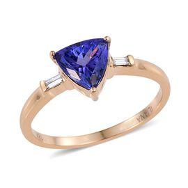 ILIANA 18K Y Gold AAA Tanzanite (Trl 1.90 Ct), Diamond Ring 2.000 Ct.