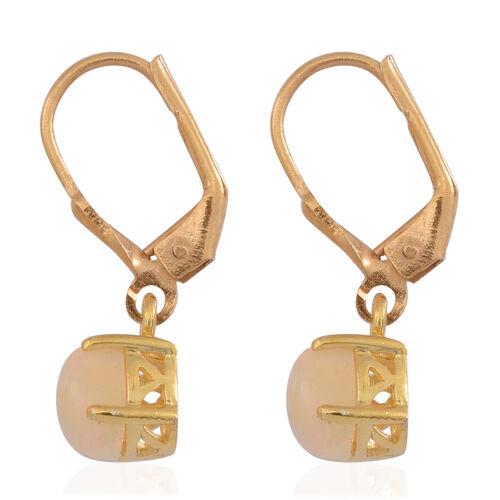 Ethiopian Welo Opal (Ovl) Lever Back Earrings in 14K Gold Overlay Sterling Silver 1.000 Ct.
