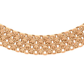 Close Out Deal 9K R Gold Garibaldi Necklace (Size 17), Gold wt 11.00 Gms.
