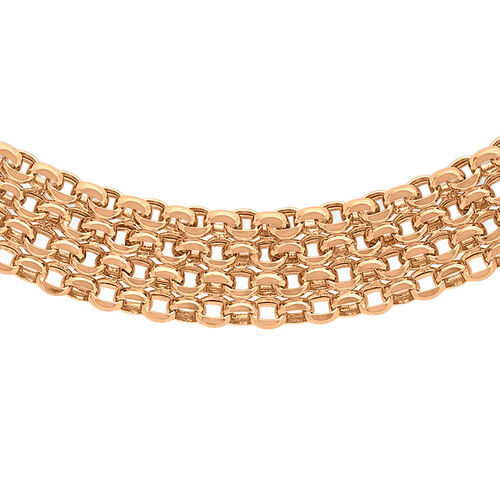 Close Out Deal 9K R Gold Garibaldi Necklace (Size 17), Gold wt 11.00 Gms.