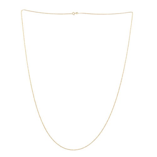 Vicenza Collection 14K Gold Overlay Sterling Silver Rock Chain (Size 30), Silver wt 3.60 Gms.