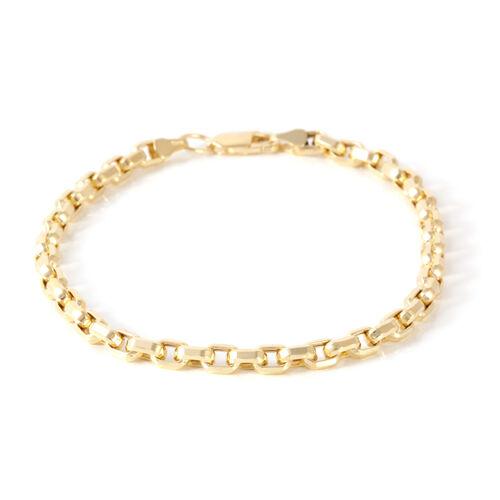 Limited Edition-JCK  Vegas Collection 9K Y Gold Box Bracelet (Size 8), Gold wt 4.5 Gms.