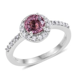RHAPSODY 950 Platinum 1.75 Carat AAAA Pink Sapphire And Diamond (VS/E-F) Ring