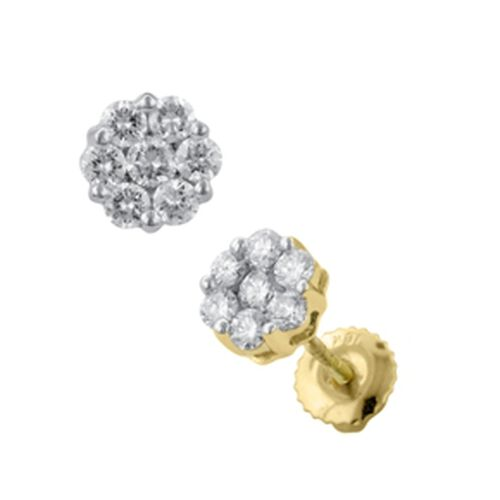 ILIANA 18K Y Gold IGI Certified Diamond (Rnd) (SI / G-H) Stud Earrings 0.500 Ct.