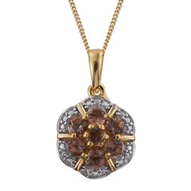 Brazilian Andalusite (Rnd) Pendant with Chain in 14K Gold Overlay Sterling Silver 0.750 Ct.