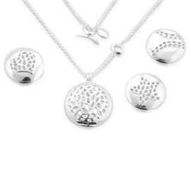RACHEL GALLEY Sterling Silver 4 Interchangeable Memento Disc Charm Pendant With Chain (Size 30), Silver wt 29.50 Gms.