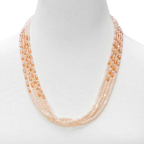Extra Long 96 Inches - Handmade AAA Champagne Facted Crystal Necklace