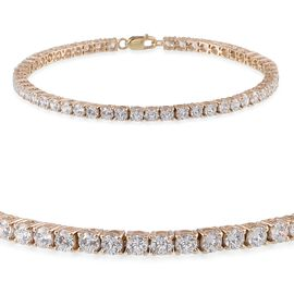 9K Y Gold (Rnd) Bracelet Made with 120 FACETS HERITAGE CUT SWAROVSKI ZIRCONIA (Size 7.5)