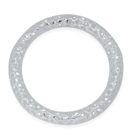 RACHEL GALLEY Sterling Silver Allegro Bangle (Size 68MM- Large), Silver wt 30.00 Gms.