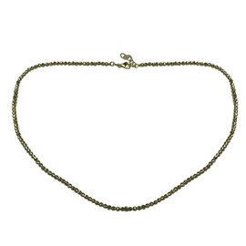 Limited Edition - 9K Y Gold Diamond Cut Beads Necklace (Size 18 with 1 inch Extender), Gold wt 9.01 Gms.