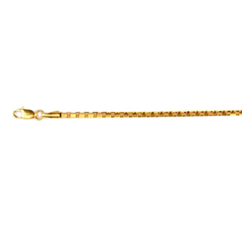 Limited Availability Vicenza Collection 22K Y Gold Box Necklace (Size 20), Gold wt 8.75 Gms.