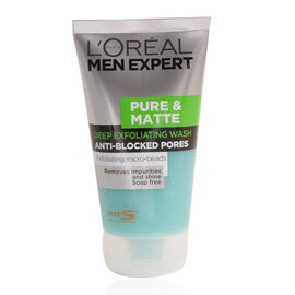 LOreal Men Expert Pure & Matt Exfoliating Face Wash 150ml