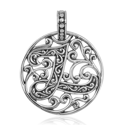 Royal Bali Collection Sterling Silver Initial L Pendant, Silver wt 3.10 Gms.