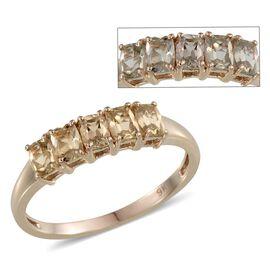 9K Y Gold Turkizite (Cush) 5 Stone Ring 1.150 Ct.