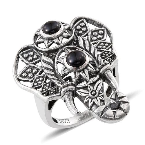 Boi Ploi Black Spinel (Rnd) Ring in Sterling Silver 1.750 Ct.