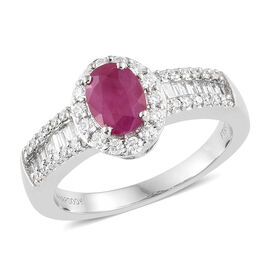 RHAPSODY 950 Platinum 1.50 Carat AAAA Pigeon Blood Burmese Ruby Ring with Diamond VS/E-F
