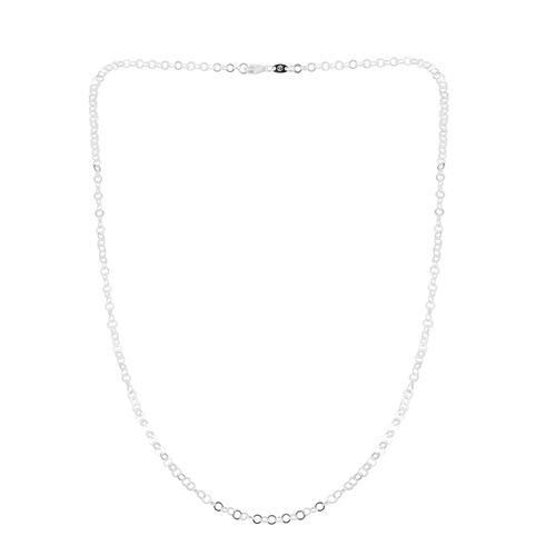 Sterling Silver Open Circle Chain (Size 24), Silver wt 4.41 Gms.