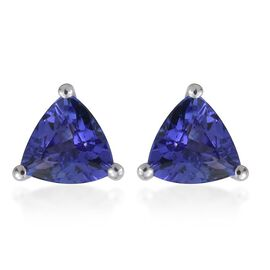 ILIANA 18K W Gold AAA Tanzanite (Trl) Stud Earrings (with Screw Back) 1.500 Ct.