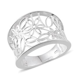 Sterling Silver Floral Ring, Silver wt 4.20 Gms.
